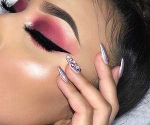 beauty, eye, and glam image