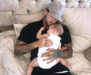 babies, baby, and dad image