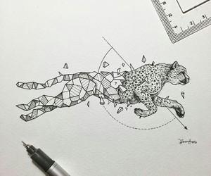 art, animal, and cheetah image