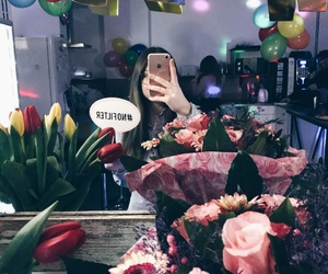 birthday, flowers, and girl image
