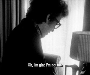 bob dylan, black and white, and quote image