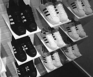 &, dark, and adidas image