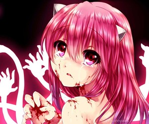 anime, elfen lied, and Lucy image