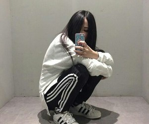 adidas, ulzzang, and asian image