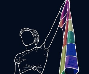 drawing, pride, and halsey image