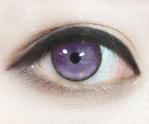 eye, purple, and eyes image