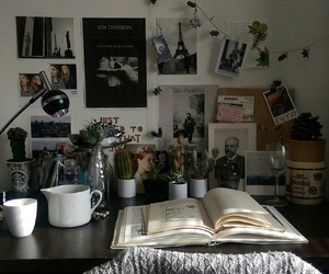 book, plants, and room image