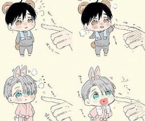 anime, yuri on ice, and chibi image