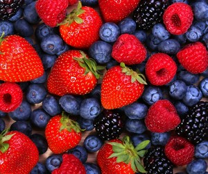 berries, strawberry, and fruit image