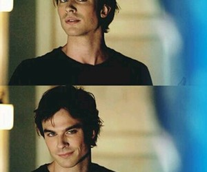 the vampire diaries and damon salvatore image