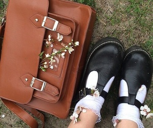 flowers, shoes, and brown image
