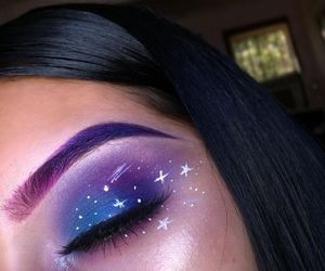 makeup, beauty, and galaxy image