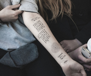 tattoo, pale, and grunge image