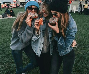 friends, donuts, and friendship image