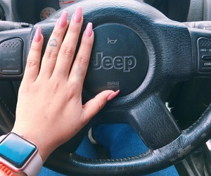 jeep, nails, and pink image