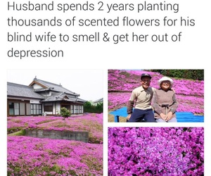 flowers and husband image