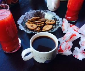 candy, coffee, and morning image