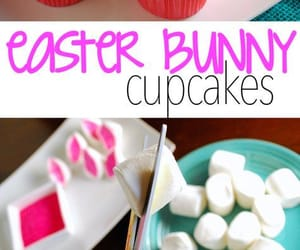 bunny, cupcakes, and eastercupcakes image