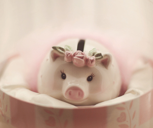 adorable, pig, and porcelain image