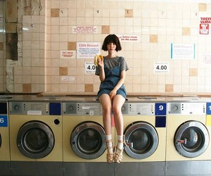 girl and laundry image