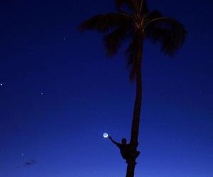 beach and moon image