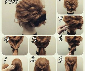hairstyle, hair, and tutorial image