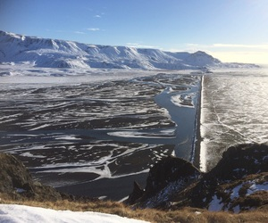 iceland, view, and winter image