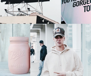 justin bieber, background, and pink image