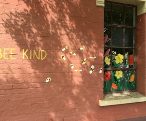 kind, bee, and flowers image