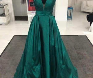 dress, green, and perfect image