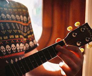 guitar, vintage, and music image