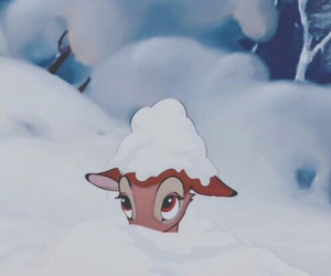 disney, bambi, and snow image