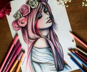 art, beautiful, and sketches image