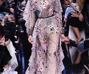 catwalk, dress, and fashion week image
