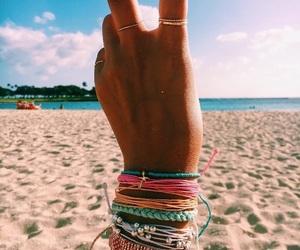 beach, peace, and sea image