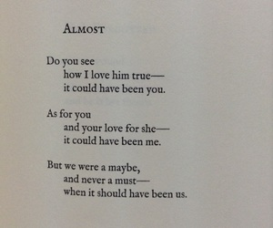 almost, Lang Leav, and poetry image