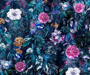 background, blue, and botanical image