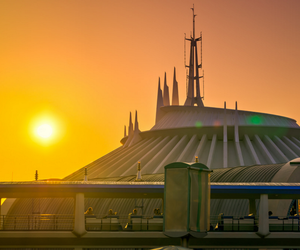disney world, space mountain, and sunset image