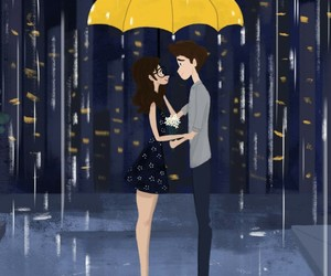 love and rain image