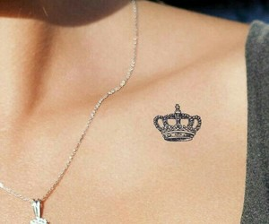 tattoo, crown, and Queen image