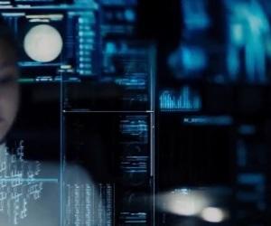blue, cyberpunk, and future image