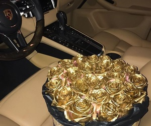 luxury, rose, and gold image