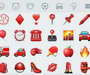 emoticons, red, and wpp image
