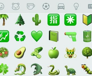 emoticons, green, and wpp image