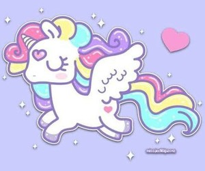 unicorn and kawaii image