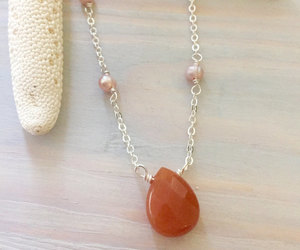 etsy, delicate necklace, and dainty necklace image