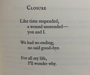 closure, Lang Leav, and poetry image