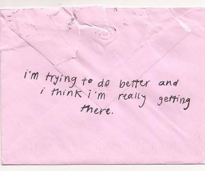 quotes, pink, and Letter image