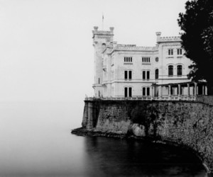 castle, sea, and architecture image