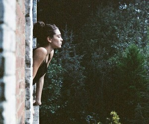 girl, nature, and window image